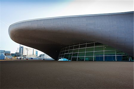 futuristic - The entrance to the the Aquatics Centre in the Olympic Park, London, England, United Kingdom, Europe Stock Photo - Rights-Managed, Code: 841-06342076