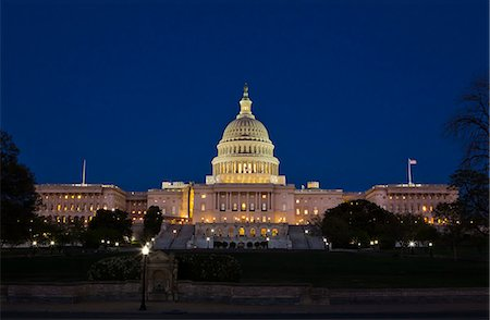 The United States Capitol Complex, the Capitol and the Senate Building showing  current renovation work, Washington D.C., United States of America, North America Stock Photo - Rights-Managed, Code: 841-06342099