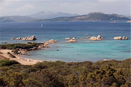 The island of Caprera, Maddalena Islands, view over the coast of Sardinia, Italy, Mediterranean, Europe Stock Photo - Rights-Managed, Code: 841-06342137