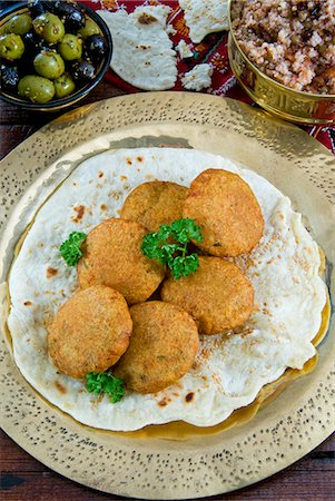 egypt - Falafel, a deep-fried balls or patties made from ground chickpeas and or fava beans, Arabic Countries Stock Photo - Rights-Managed, Code: 841-06342764