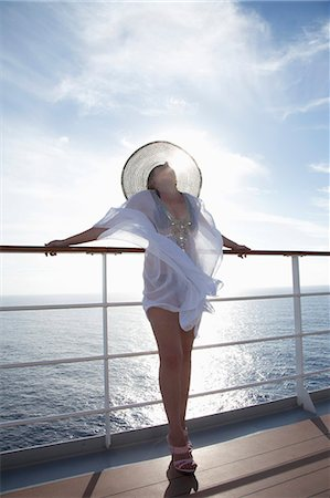 Woman on a cruise ship, Nassau, Bahamas, West Indies, Caribbean, Central America Stock Photo - Rights-Managed, Code: 841-06342789