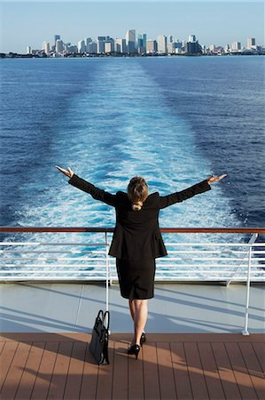 Business woman on a cruise ship, Nassau, Bahamas, West Indies, Caribbean, Central America Stock Photo - Rights-Managed, Code: 841-06342791