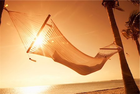 Woman in a hammock on the beach, Florida, United States of America, North America Stock Photo - Rights-Managed, Code: 841-06342809