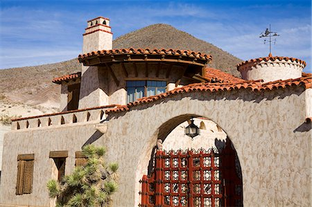 Scotty's Castle in Death Valley National Park, California, United States of America, North America Stock Photo - Rights-Managed, Code: 841-06342956