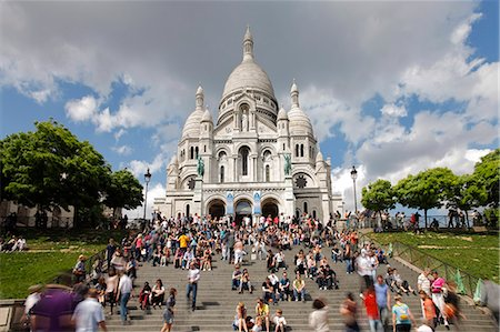 Basilique du Sacre Coeur, Montmartre, Paris, France, Europe Stock Photo - Rights-Managed, Code: 841-06343136