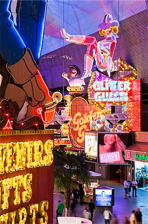 The Freemont Street Experience in Downtown Las Vegas, Las Vegas, Nevada, United States of America, North America Stock Photo - Rights-Managed, Code: 841-06343184