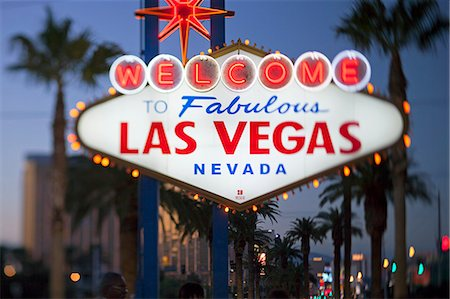 Welcome to Las Vegas sign, Las Vegas, Nevada, United States of America, North America Stock Photo - Rights-Managed, Code: 841-06343197