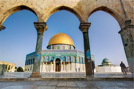pillar - Dome of the Rock, Temple Mount, Old City, UNESCO World Heritage Site, Jerusalem, Israel, Middle East Stock Photo - Rights-Managed, Code: 841-06343242