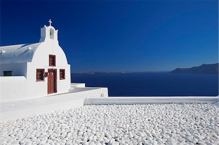Church and white stones at Oia, Santorini, Cyclades, Greek Islands, Greece, Europe Stock Photo - Rights-Managed, Code: 841-06343301