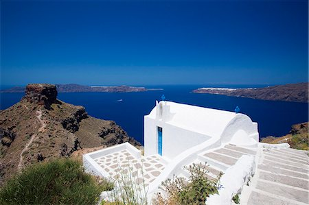 Church at Imerovigli, Santorini, Cyclades, Greek Islands, Greece, Europe Stock Photo - Rights-Managed, Code: 841-06343310