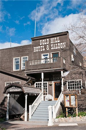 saloon - Gold Hill Hotel and Saloon, Nevada's oldest hotel dating from 1859, Virginia City, Nevada, United States of America, North America Stock Photo - Rights-Managed, Code: 841-06343350