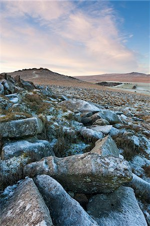 dartmoor national park - Frost on Belstone Tor in Dartmoor National Park, Devon, England, United Kingdom, Europe Stock Photo - Rights-Managed, Code: 841-06343569