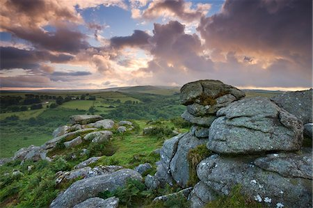 dartmoor national park - Holwell Tor on a stormy summer evening, Dartmoor National Park, Devon, England, United Kingdom, Europe Stock Photo - Rights-Managed, Code: 841-06343572