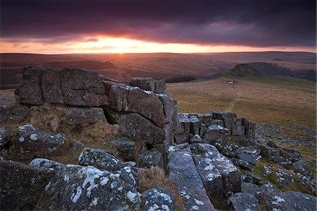 dartmoor national park - Leather Tor from Sharpitor at sunrise, Dartmoor National Park, Devon, England, United Kingdom, Europe Stock Photo - Rights-Managed, Code: 841-06343632