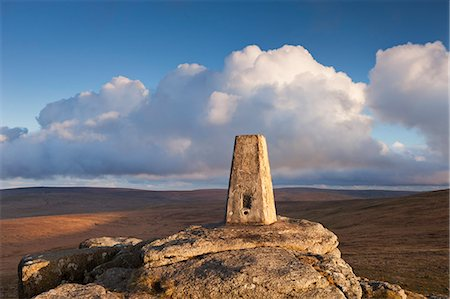 dartmoor national park - Trig Point on Yes Tor, the highest trig point in the South of Britain, Dartmoor National Park, Devon, England, United Kingdom, Europe Stock Photo - Rights-Managed, Code: 841-06343649
