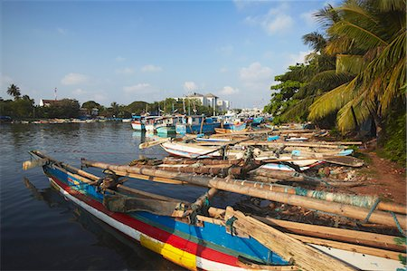 Fishing boats in Negombo Lagoon, Negombo, Western Province, Sri Lanka, Asia Stock Photo - Rights-Managed, Code: 841-06343661