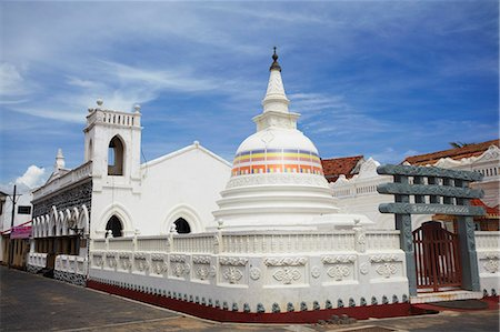 Buddhist temple of Sudharmalaya Vihara, Galle, Southern Province, Sri Lanka, Asia Stock Photo - Rights-Managed, Code: 841-06343767
