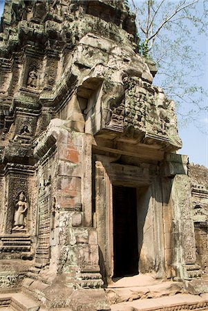Ta Prohm, Angkor Archaeological Park, UNESCO World Heritage Site, Siem Reap, Cambodia, Indochina, Southeast Asia, Asia Stock Photo - Rights-Managed, Code: 841-06343841