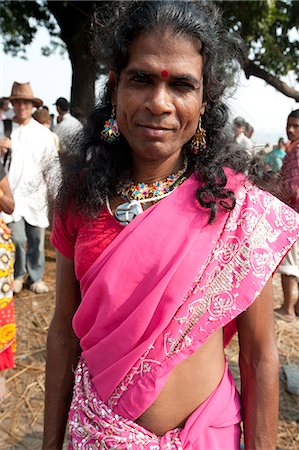 Launda dancer, a transsexual Bihari man dressed as a woman to dance at village weddings and fairs, Sonepur Cattle fair, Bihar, India, Asia Stock Photo - Rights-Managed, Code: 841-06343880