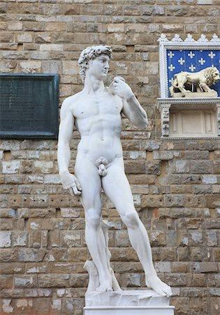 statue of david - Statue of David, Piazza della Signoria, Florence, UNESCO World Heritage Site, Tuscany, Italy, Europe Stock Photo - Rights-Managed, Code: 841-06343953