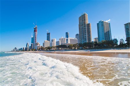 queensland - Surfers Paradise beach and high rise buildings, the Gold Coast, Queensland, Australia, Pacific Stock Photo - Rights-Managed, Code: 841-06444957