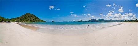 Panoramic Photo of idyllic Selong Belanak Beach, South Lombok, Indonesia, Southeast Asia, Asia Stock Photo - Rights-Managed, Code: 841-06445148