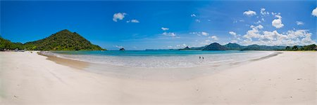 Panoramic Photo of idyllic Selong Belanak Beach, South Lombok, Indonesia, Southeast Asia, Asia Stock Photo - Rights-Managed, Code: 841-06445148