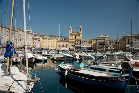 france - The old harbour in Bastia in northern Corsica, France, Mediterranean, Europe Stock Photo - Rights-Managed, Code: 841-06445552