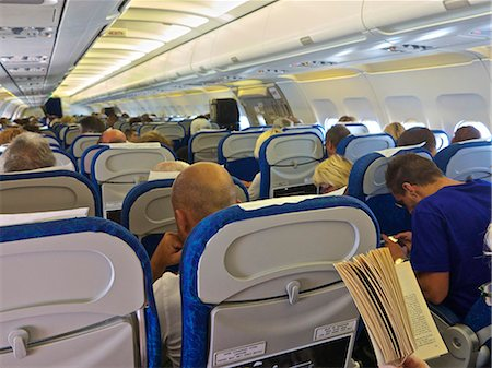 Airbus A320 plane inside cabin with passengers, France, Europe Stock Photo - Rights-Managed, Code: 841-06445932