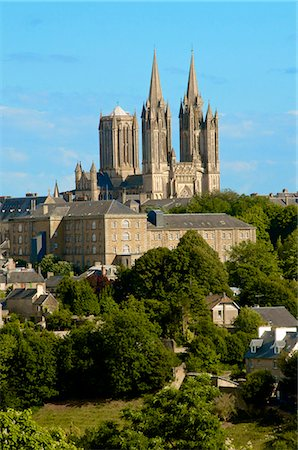 Notre Dame cathedral on skyline of Coutances, Cotentin, Normandy, France, Europe Stock Photo - Rights-Managed, Code: 841-06445979