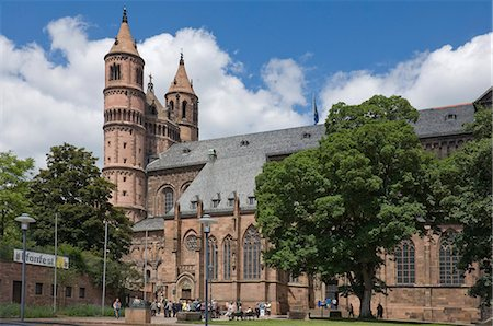 The New-Romanesque Cathedral of St. Peter, Worms, Rhineland Palatinate, Germany, Europe Stock Photo - Rights-Managed, Code: 841-06446241