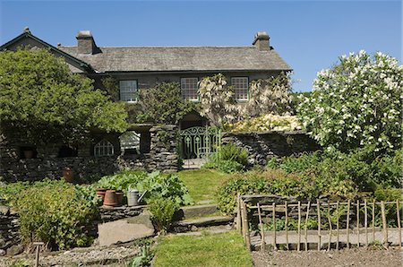 Hilltop, Sawrey, near Ambleside, the home of Beatrix Potter, famous author of children's books, Lake District National Park, Cumbria, England, United Kingdom, Europe Stock Photo - Rights-Managed, Code: 841-06446267