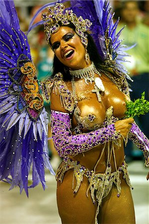 exotic outdoors - Carnival parade at the Sambodrome, Rio de Janeiro, Brazil, South America Stock Photo - Rights-Managed, Code: 841-06446303