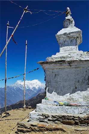 Stupa, Langtang National Park, Bagmati, Central Region (Madhyamanchal), Nepal, Himalayas, Asia Stock Photo - Rights-Managed, Code: 841-06446537
