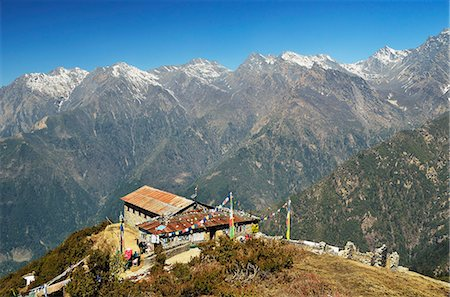 View of Langtang mountain range, Langtang National Park, Bagmati, Central Region (Madhyamanchal), Nepal, Himalayas, Asia Stock Photo - Rights-Managed, Code: 841-06446540