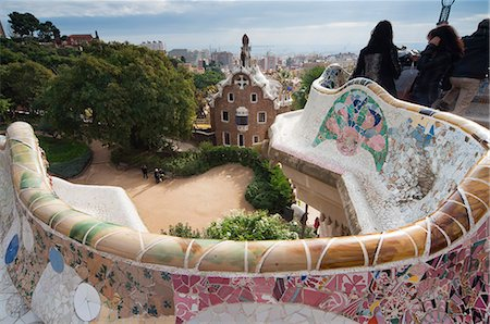Guell Park (Parc Guell), Unesco World Heritage Site, Barcelona, Catalunya (Catalonia) (Cataluna), Spain, Europe Stock Photo - Rights-Managed, Code: 841-06446957