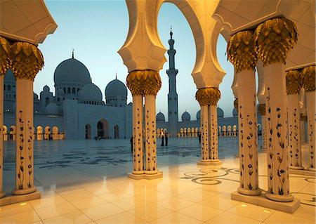 pillar - Sheikh Zayed Mosque, Abu Dhabi, United Arab Emirates, Middle East Stock Photo - Rights-Managed, Code: 841-06446989