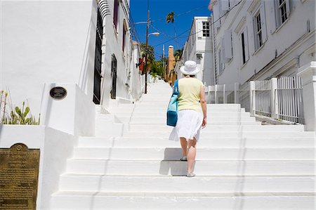 Steps to historic Kongens Quarter in Charlotte Amalie, St. Thomas Island, U.S. Virgin Islands, West Indies, Caribbean, Central America Stock Photo - Rights-Managed, Code: 841-06447106