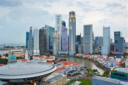 Skyline and Financial district at dawn, Singapore, Southeast Asia, Asia Stock Photo - Rights-Managed, Code: 841-06447218