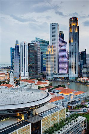 Skyline and Financial district at dawn, Singapore, Southeast Asia, Asia Stock Photo - Rights-Managed, Code: 841-06447219