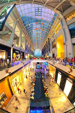 shopping mall - Shopping Mall in the Marina Bay Sands hotel and casino complex, Singapore, Southeast Asia, Asia Stock Photo - Rights-Managed, Code: 841-06447222