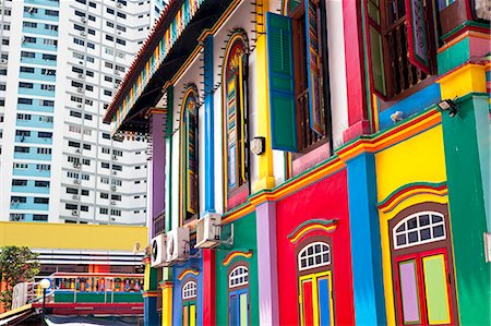 Colourful Heritage Villa, the residence of Tan Teng Niah, Little India, Singapore, Southeast Asia, Asia Stock Photo - Rights-Managed, Code: 841-06447253