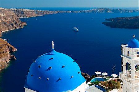 santorini - View from Imerovigli overlooking ocean, Santorini, Cyclades, Greek Islands, Greece, Europe Stock Photo - Rights-Managed, Code: 841-06447306