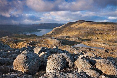 rock - Mountain scenery on the island of Streymoy, Faroe Islands, Denmark, Europe Stock Photo - Rights-Managed, Code: 841-06447568
