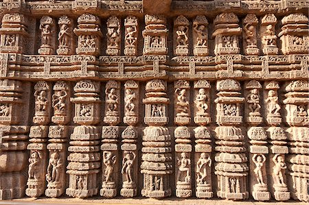 erotic female figures - Ornate erotic carvings on 13th century Konarak Sun temple,  UNESCO World Heritage Site, Konarak, Orissa, India, Asia Stock Photo - Rights-Managed, Code: 841-06447826