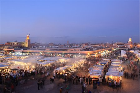 food stalls - Food stalls, Djemaa el Fna, Marrakech, Morocco, North Africa, Africa Stock Photo - Rights-Managed, Code: 841-06447844