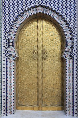 Door, Royal Palace Gates, Fez, Morocco, North Africa, Africa Stock Photo - Rights-Managed, Code: 841-06447864