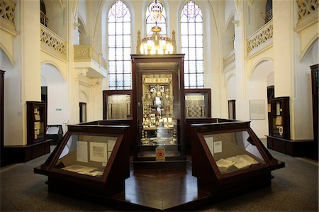 exhibition - The Maisel Synagogue is currently used by the Jewish Museum as an exhibition venue and depository, Prague, Czech Republic, Europe Stock Photo - Rights-Managed, Code: 841-06448023