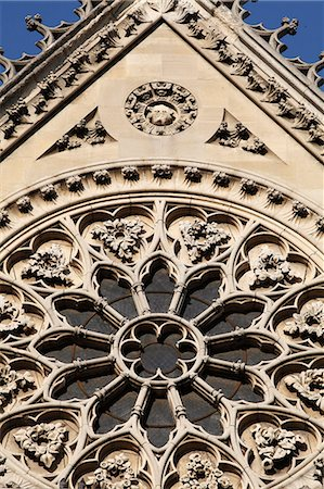 Rose window on South facade, Notre Dame Cathedral, Paris, France, Europe Stock Photo - Rights-Managed, Code: 841-06448143