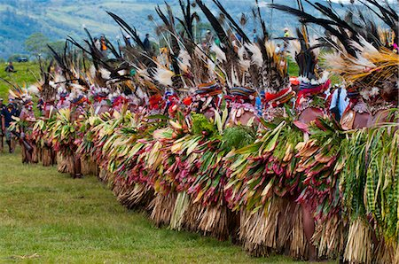 decorative - Colourfully dressed and face painted local tribes celebrating the traditional Sing Sing in the Highlands, Papua New Guinea, Pacific Stock Photo - Rights-Managed, Code: 841-06448210